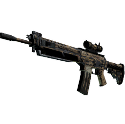 SG 553   Bleached (Battle-Scarred)