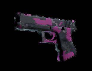 Glock-18   Пиксельный камуфляж «Розовый»