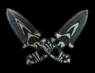 ★ Тычковые ножи | Черный глянец
