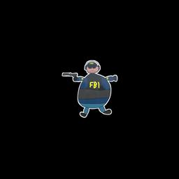 Sticker | Poorly Drawn FBI