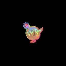 Sticker | Poorly Drawn Chicken (Holo)
