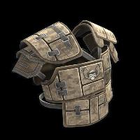 Rust Desert Raiders Roadsign Vest Skin