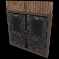 Rust Old Subway Doors Skin